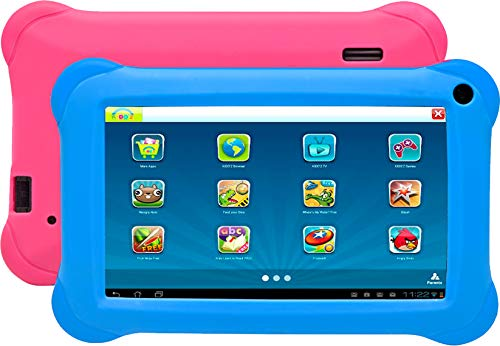 Denver Electronics TAQ-70353KBLUE/PINK 8 GB Blau, Pink - Kinder-Tablets (1,2 GHz, 1 GB, DDR3-SDRAM, 8 GB, MicroSD (TransFlash), 32 GB)