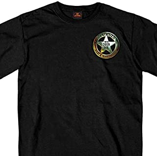 Official 2019 Sturgis Motorcycle Rally Saloon T-Shirt (BLACK Large)
