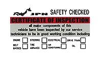 東洋マーク製作所 SAFETY CHECKED インスペクション ステッカー 内貼りタイプ レッド 3505