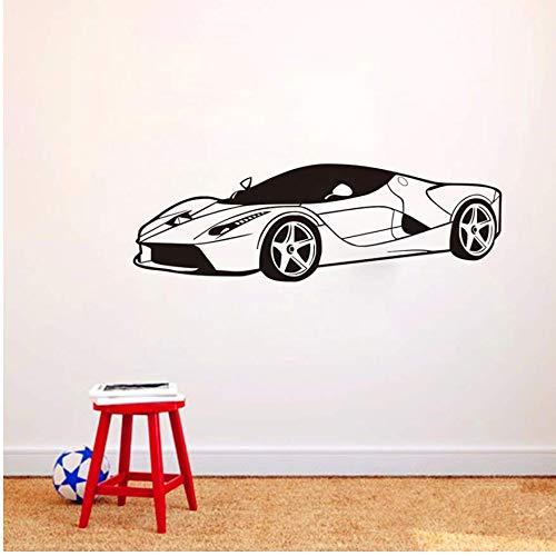 Wohnzimmer Wandtattoowandaufkleber Kühlen Sportwagen Jungen Schlafzimmer Geschwindigkeit Auto Wanddekoration Vinyl Abnehmbare Wandtattoo Kinderzimmer Dekoration 131 * 42 Cm