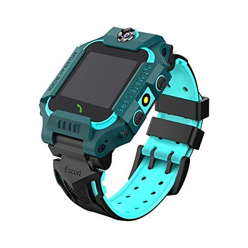YMKT Kinder Smart Uhr für Jungen Mädchen-HD Dual Kamera OLED Bildschirm SOS Anti-Verloren Alarm Armbanduhr Sport Anruf Voice-Chat Smartwatch Telefon für Kinder Teen Studenten