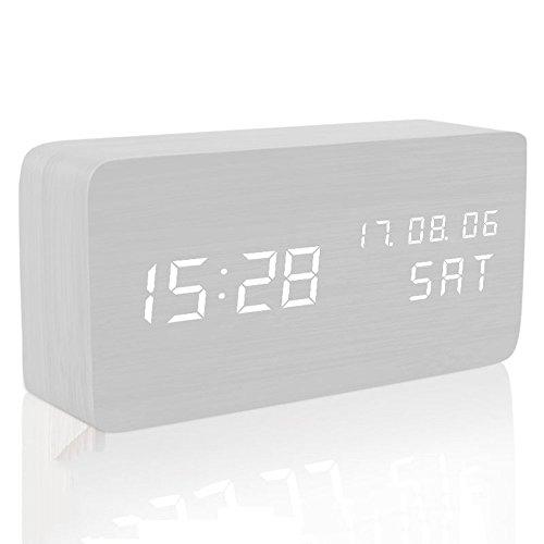 MUTANG Reloj Madera Led Light Mini Cube
