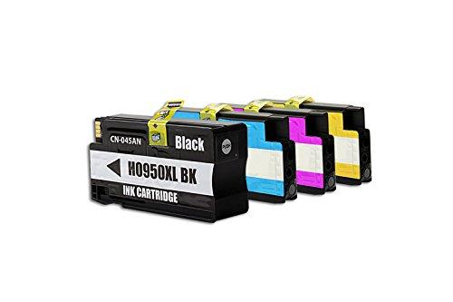 Rebuilt für HP OfficeJet Pro 8610 e-All-in-One Tinten Sparset Black, Cyan, Magenta, Yellow - 950XL/951X / C2P43AE - Inhalt: 1 x 80 ml & 3 x 27 ml