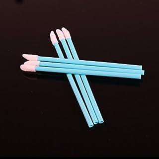 Kittro 使い捨て リップブラシ 100本入り 中空棒 携帯用 便利 メイクブラシ 化粧用品 化粧ブラシ(青)