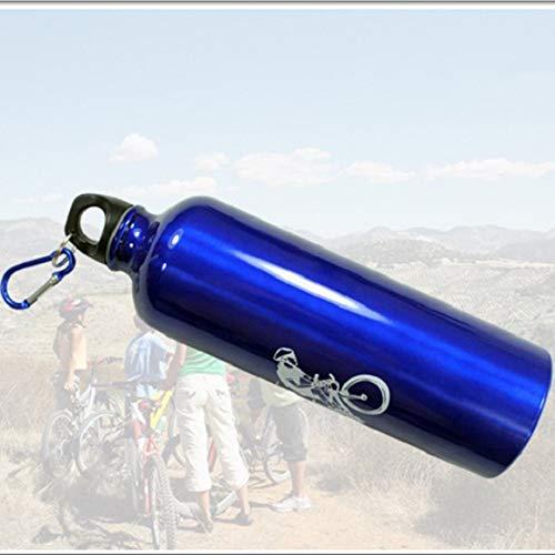 Monrodbitt Portable Durable 750ML Hervidor de Aluminio Bicicleta de montaña Ciclismo Botella de Bebida de Agua MTB Bicicleta Botella de Agua (Azul)