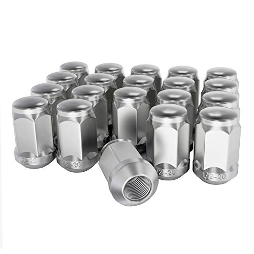 NPAUTO Chrome Wheel Lug Nuts 1/2 x 20, 1.38' 3/4' Hex Conical Replacement for...