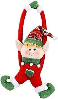 NOWON Decorazione del Supporto del fermatenda della Fibbia della Tenda della Finestra della Bambola dello Gnomo di Babbo Natale Svedese di Natale
