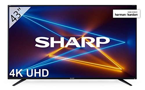 Sharp LC-43UI7252E - Smart TV de 43' (UHD, resolución 3840 x 2160, HDR, Sonido Harman/kardon, 3X HDMI, 2X USB, 1x USB 3.0, Active Motion 400) Color Negro