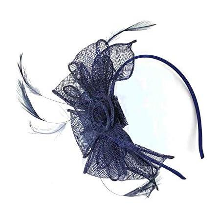 UK Feather Flower Headband Alice Band Fascinator Ladies Wedding Race Royal Ascot