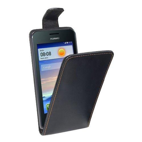 PEDEA Flipcase Hülle für Huawei Ascend Y330 Tasche, schwarz