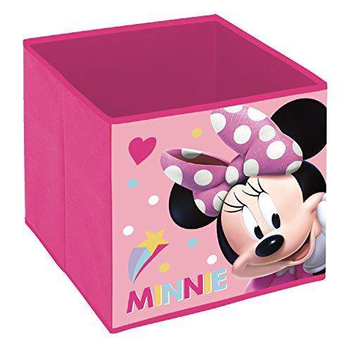 Minnie Maus NEU Aufbewahrungsbox ohne Deckel stapelbar Spielzeugkiste Kiste Würfel Spielzeugbox Spielebox Toy Box Kinderzimmeraufbewahrung Mini Mouse Micky