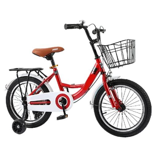 Bicicleta para Niños, Estilo Libre para Niños Y Niñas De 3 Colores, 12', 14', 16', 20' con Ruedas De Entrenamiento Y Asiento Trasero,C,12