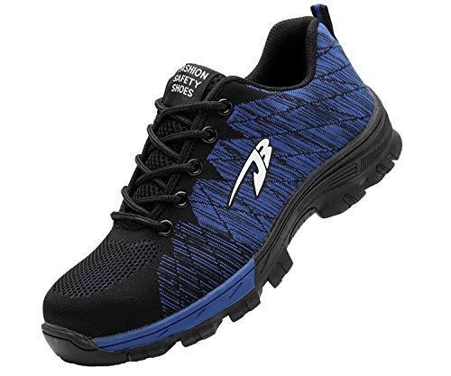 Zapatillas de Seguridad Hombre Zapatos de Mujer Antideslizante Transpirable Zapatos de...