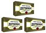 3 Stück (3 x 140g) Teer-Seife (Birkenteer) gegen Dermatitis Akne Birkenseife aus Russland