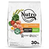 NUTRO NATURAL CHOICE Healthy Weight Adult Dry Dog Food, Chicken & Brown Rice Recipe Dog Kibble, 30 lb. Bag