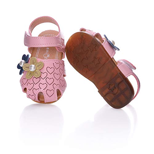 LongGe Toddler Baby Girls Summer Princess Soft Leather Sandals