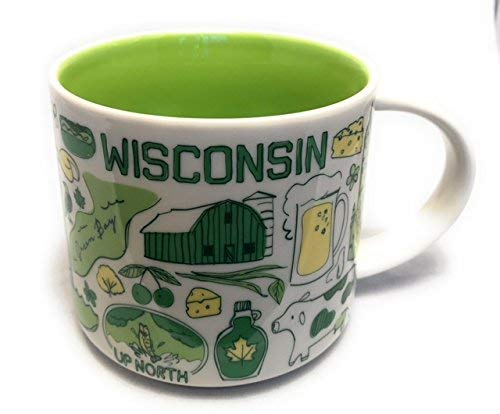 Starbucks WISCONSIN Been There Series Across the Globe Collection Coffee Mug 14 Ounce