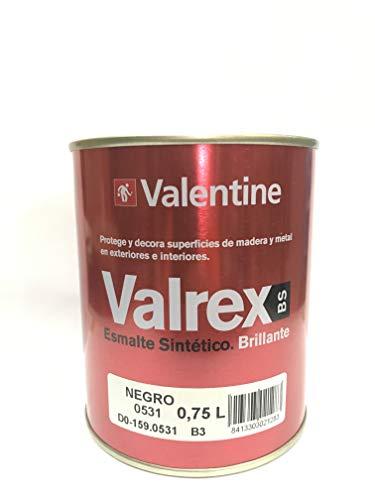 Valrex Esmalte Sintético Brillante Negro 750ml