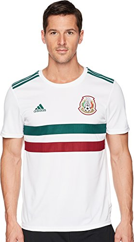 adidas 2018 Mexico Away Replica Jersey White/Collegiate Green/Collegiate Burgundy LG