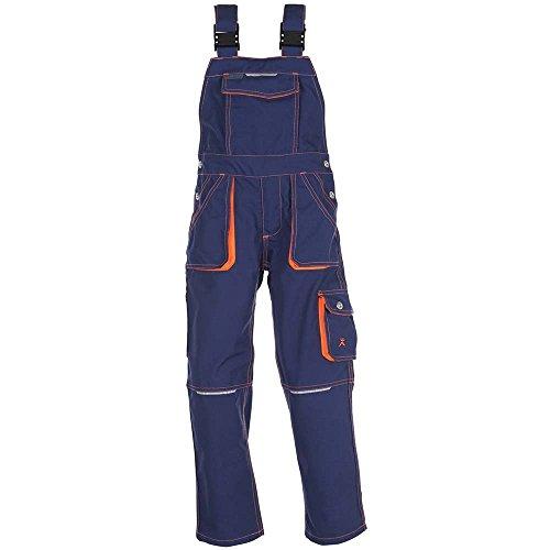 Planam Latzhose Junior, größe 86 / 92, marine / orange / mehrfarbig, 6121086