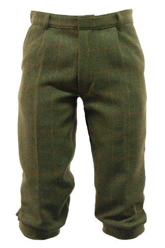 Game, pantaloni da uomo corti scuri in tweed del tipo alla zuava o derby inglese Green Large
