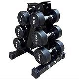 Soporte para mancuernas de 3 niveles,soporte para pesas de acero – Soporte de 3 niveles,estante de...
