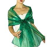 Chal organza color verde turquesa azul pavo real novia boda novia para vestido de fiesta