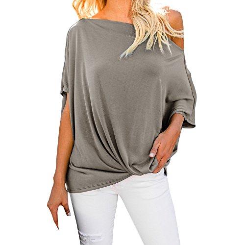 Strungten Frauen Casual Schulterfrei Tops Kurzarm T-Shirts Verlieren Sexy Tanktops Tunika Blusen Kalte Schulter T