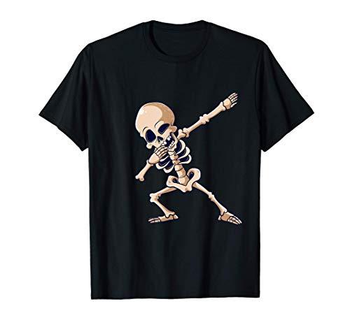 Dabbing Esqueleto Halloween Baile Esqueletos Niños Camiseta
