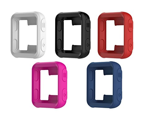 TenCloud Covers Compatible with Garmin Forerunner 35 Watch, Silicone Protector Case Replacement for Forerunner 35 Approach S20 Watch Accessories (Black, White, Red, Dark Blue, Magenta)