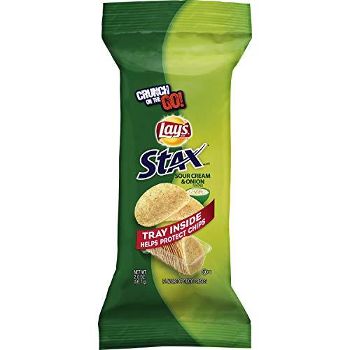 Lay's Stax Sour Cream & Onion Potato Crisps, 2 Ounce (18 Count)