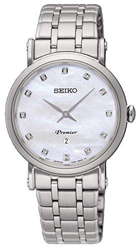 Seiko Premier Reloj para Mujer Analógico de Automático japonés con Brazalete de Acero Inoxidable SXB433P1
