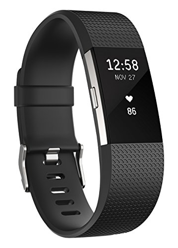 Fitbit Charge 2 Heart Rate Fitness polsband, zwart, X-Large Fitbit