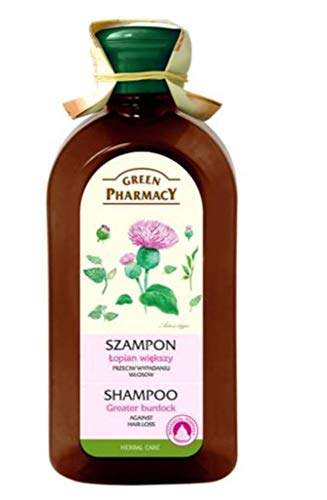 Green Pharmacy GREATER BURDOCK SHAMPOO for all hair types 350 ml. Nourishes the roots, reduces hair loss, stimulates hair growth.