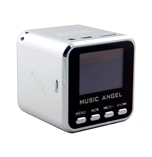 Music Angel – Altavoz Cube Multimedia & MP3 con pantalla LCD