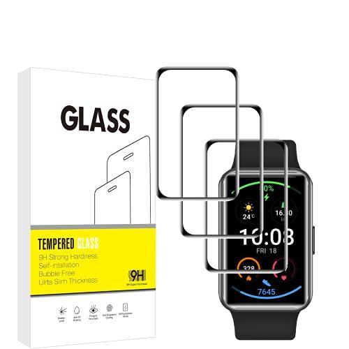 Protector de pantalla para Huawei Watch, VuciyaCurvado, borde completo, cobertura HD, protección de película, juego de 3, HD transparente, antiarañazos, compatible con Huawei Watch Fit.