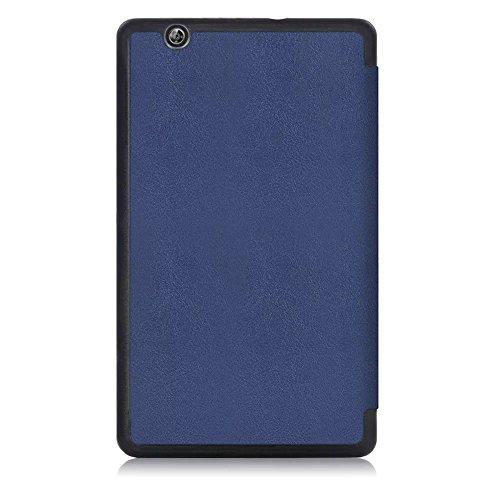 Kepuch Custer Huawei M3 8.4 Hülle - Shell Schutzhülle PU Tasche Smart Case Cover für Huawei M3 8.4 - Blau - 3