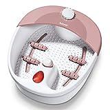Beurer FB20 - HidroMasaje para pies, 120 W, 3 funciones, color blanco y rosa