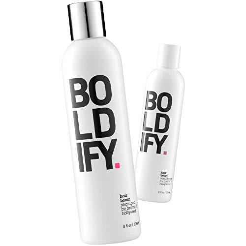 Boldify Shampoo + Boldify Conditioner Bundle: Natural Hair Growth & Anti Hair Loss Formula - Vitamin Enriched for Thicker, Fuller Hair Instantly - Cruelty & Sulfate Free