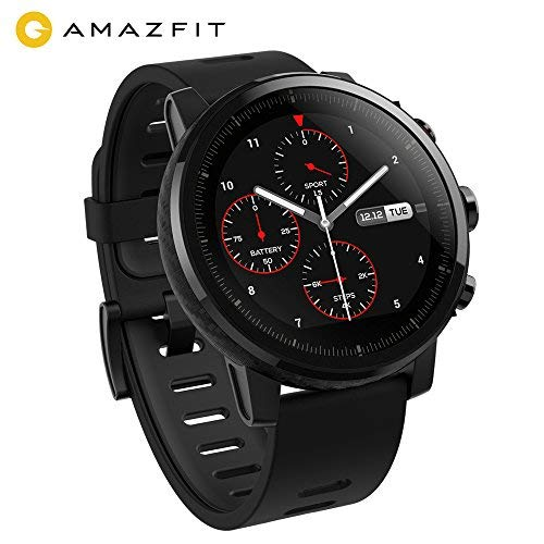 AMAZFIT Stratos 2 Smartwatch, Sports Watch with GPS + GLONASS VO2max Fitness Level Analysis, Heart Rate Sensor, Touch Display Works with iOS and Android Smartphones