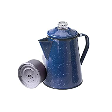 GSI Outdoors 8 Cup Enamelware Percolator for Coffee at Home or Campsite