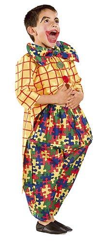 Cesar L585 - 001 - kostuums - clown puzzel kleerhangers - 5 / 7 jaar