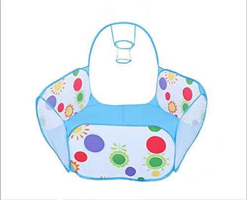 N-B Tienda de juguetes para niños de dibujos animados plegable bola piscina interior seco océano bola fosa valla bebé juego actividades teatro