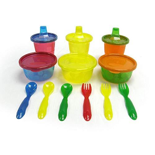 Tomy Vaisselle Coffrets Repas Set Pique Nique Multicolore Pack de 12
