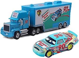 ピクサー車2 3おもちゃLightning McQueen Jackson Storm Mack叔父トラック1:55子供のためのダイカストモデル車のクリスマスプレゼント (色 : Watermelon red)
