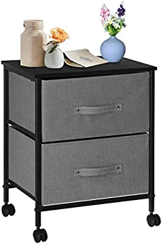 Kingso Nightstands Side End Tables with 2 Storage Drawers