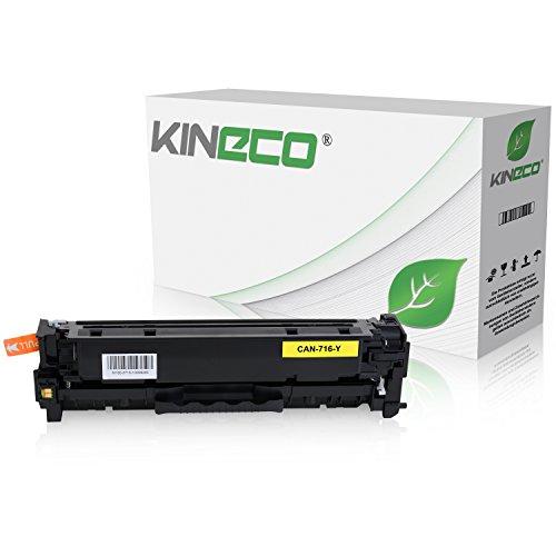 Kineco Toner kompatibel zu Canon 716 für Canon LBP-5050, Canon I-Sensys LBP-8030CN, MF8040CN, MF8050CN, MF8080CW - 1977B002 - Yellow 1.400 Seiten