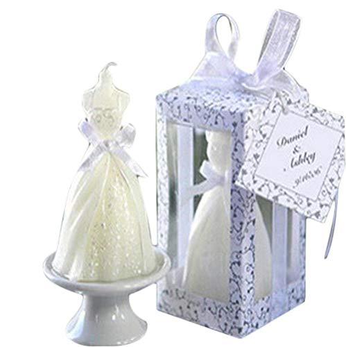 Depory - Candela per abito da sposa, elegante, per matrimonio, festa, ballerina, in pizzo, per feste di compleanno, matrimonio, festa