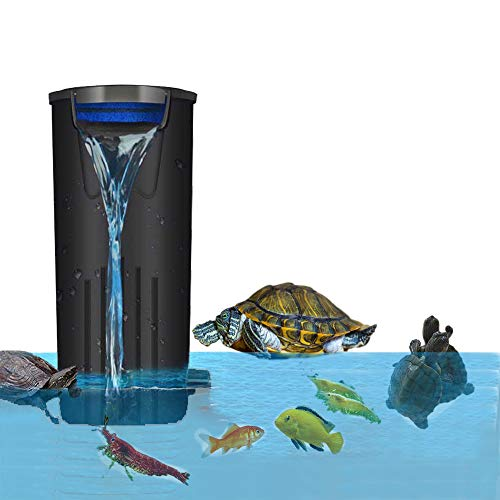 Aquarium Turtle Filter Low Water Level Filter Waterfall Flow Submersible...