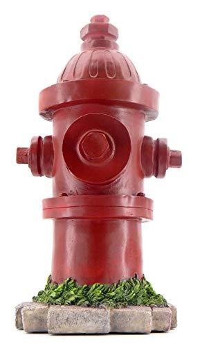 Bellaa 22472 Fire Hydrant Statue Dog Training Lamp Post 14 inch Indoor Outdoor Garden Statue Yard Decoration